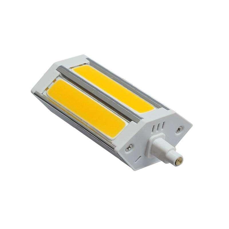 Bombilla LED R7S, 10W, COB, 118mm, Regulable